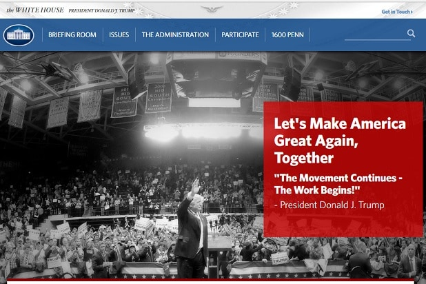 whitehouse.gov Home Page