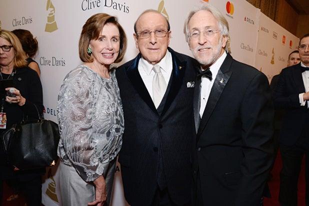 Nancy Pelosi, Clive Davis, Neil Portnow