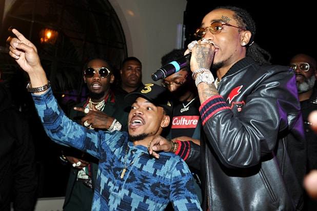 10. _0008_Chance the Rapper, Quavo Migos Grammys - Getty Images