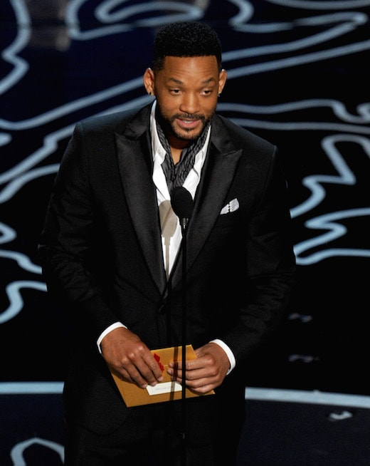 HOLLYWOOD, CA - MARCH 02: Actor Will Smith speaks onstage during the Oscars at the Dolby Theatre on March 2, 2014 in Hollywood, California. (Photo by Kevin Winter/Getty Images)