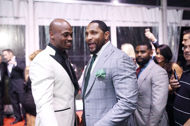 Adrian Peterson and Ray Lewis