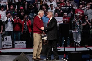 Bobby Knight and Donald Trump