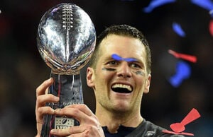 Tom Brady and New England Patriots winning Super Bowl LI