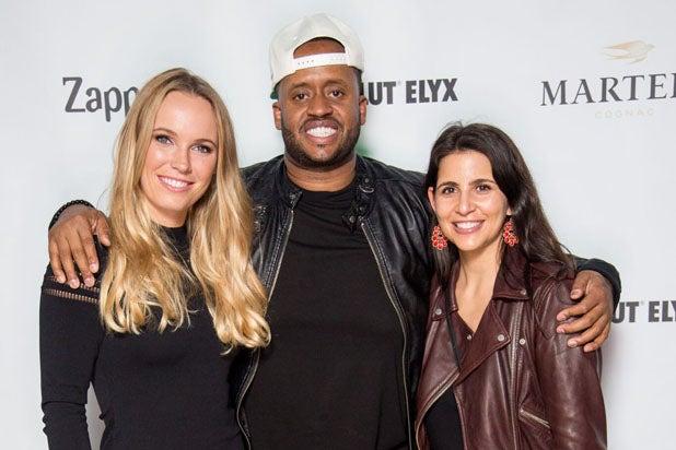Caroline Wozniacki, Kenny Hamilton & Fara Leff.