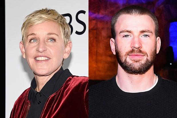Ellen DeGeneres Chris Evans Transgender Bathroom Trump