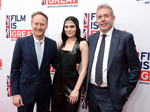 Film is Great - Jessie J with Chris O'Connor Sir Kim Darroch