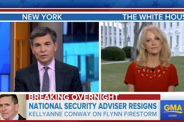 Image result for kellyanne conway george stephanopoulos