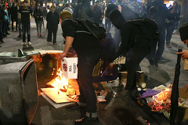 Violent Protests Erupt At UC Berkeley Against Speech By Breitbart Writer