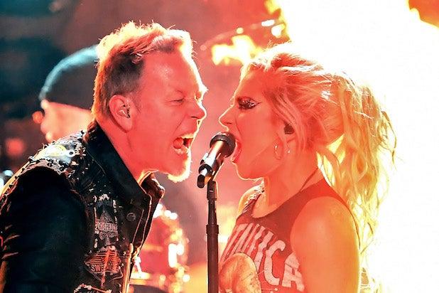 59th GRAMMY Awards Show Metallica Lady Gaga