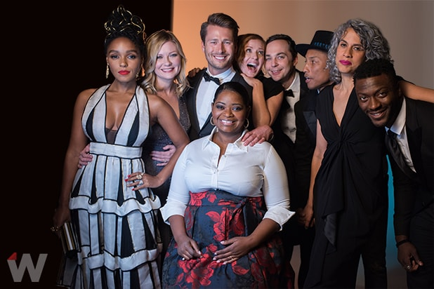 Janelle Monae, Kirsten Dunst, Glen Powell, Octavia Spencer, Jim Parsons, Pharell Williams, Aldis Hodge, Hidden Figures