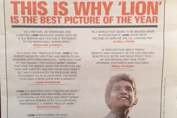 Lion ad detail