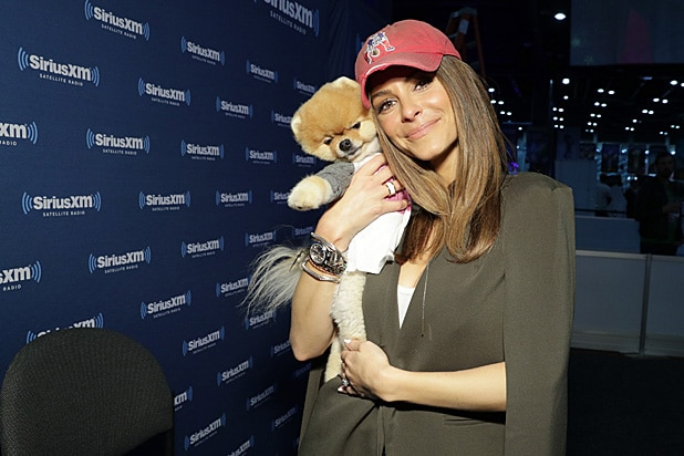 Maria Menounos SiriusXM at Super Bowl LI Radio Row