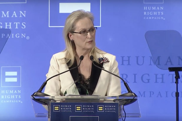 Meryl Streep human rights campaign