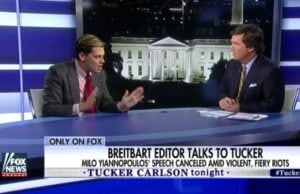 Milo Yiannopoulos and Tucker Carlson timeline