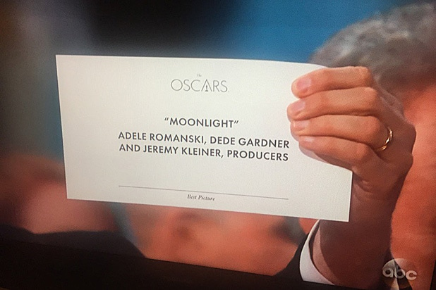 Moonlight Sign Oscars