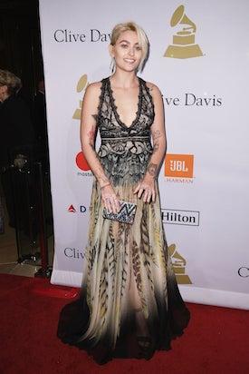 Paris Jackson at 2017 Clive Davis Party