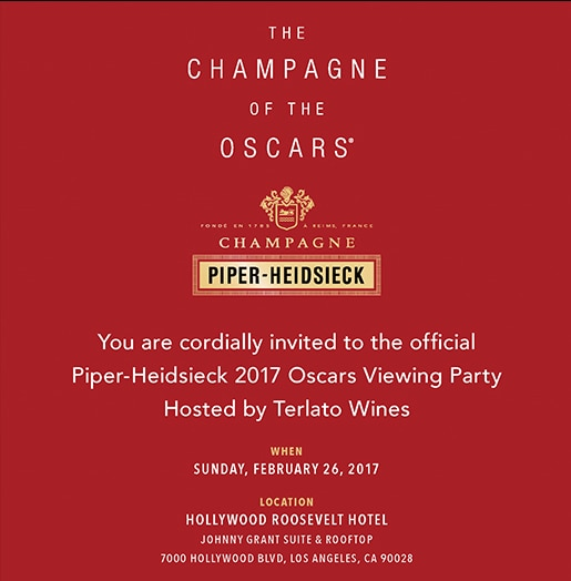 Piper Heidsieck Oscar Viewing Party