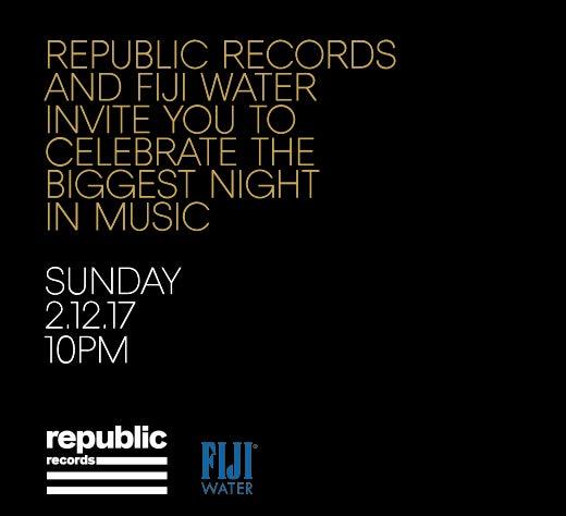 Republic Records Grammy Invite