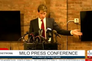milo Yiannopoulos press conference resigns breitbart