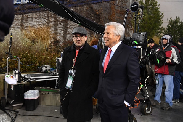 Seth Markman and Robert Kraft/ Photo by Joe Faraoni for ESPN Images