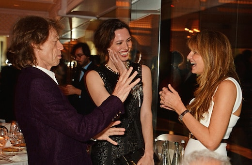 Mick Jagger, Rebecca Hall and Jemima Khan