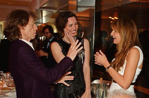 Mick Jagger, Rebecca Hall and Jemima Khan