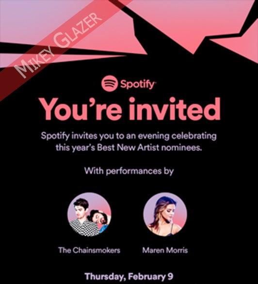 Spotify Grammy Invite