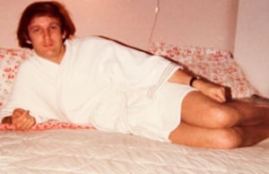 Ivanka Trump pink bathrobe