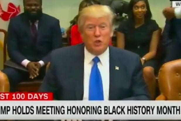 Donald Trump Black History Month Omarosa frederick douglass history fake