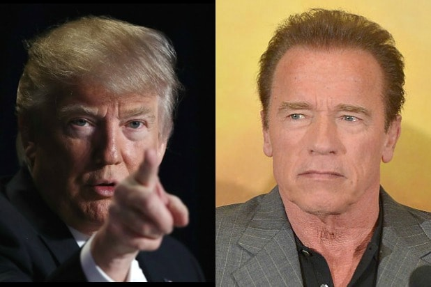 Trump asks people to pray for Schwarzenegger, gets a response