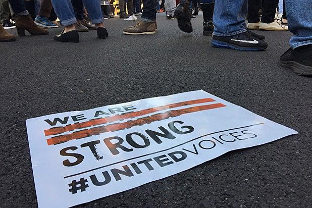 UTA Oscars Protest
