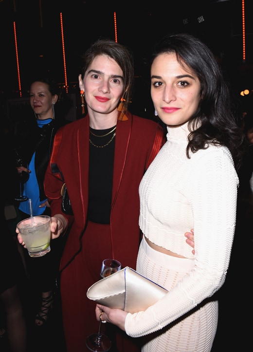 Gaby Hoffmann and Jenny Slate attends the tenth annual Women in Film Pre-Oscar Cocktail Party presented by Max Mara and BMW at Nightingale Plaza on February 24, 2017 in Los Angeles, California. (Photo by Vivien Killilea/Getty Images for Women In Film)