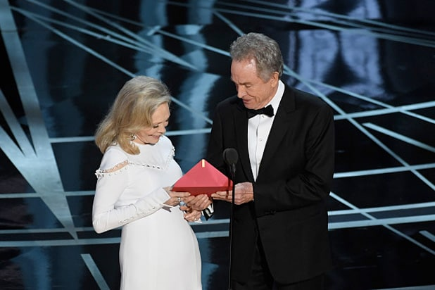 warren beatty fate dunaway oscar moonlight la la land
