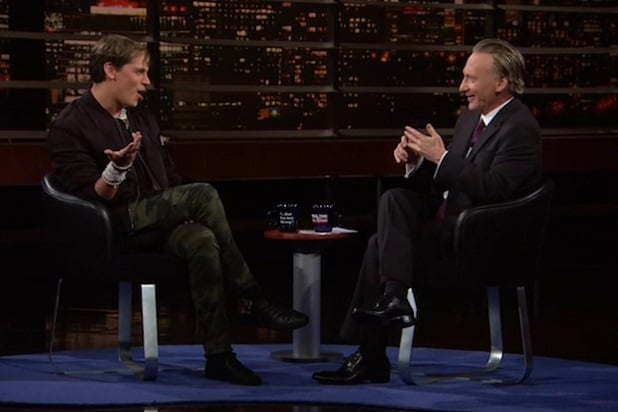 milo yiannopoulos real time with bill maher