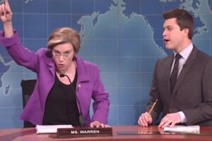 elizabeth warren kate mckinnon snl saturday night live weekend update