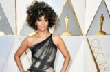 halle berry oscars red carpet big hair