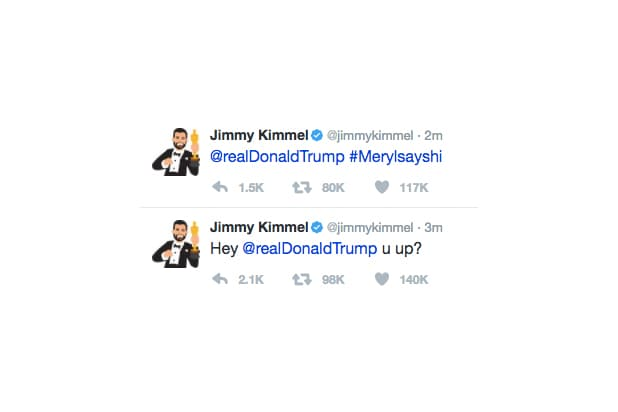Jimmy Kimmel Tweets Trump