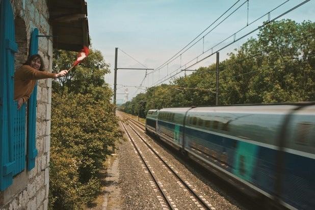 la femme et la TGV