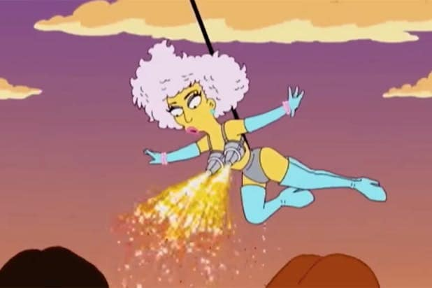 lady gaga simpsons
