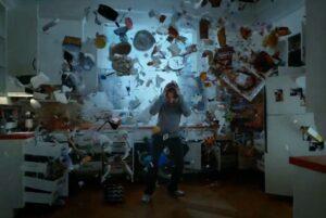 legion david blows up kitchen questions season 2 mental illness