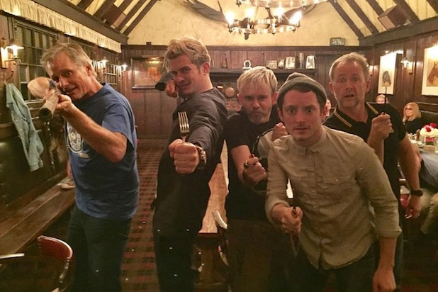 lord of the rings reunion elijah wood viggo mortensen dominic monaghan billy boyd orlando bloom