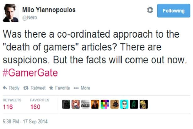 milo yiannopoulos timeline gamergate