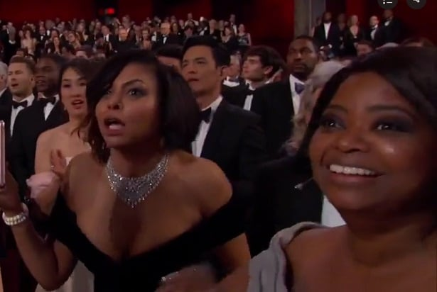 moonlight win octavia spencer oscars Taraji P. Henson 2017