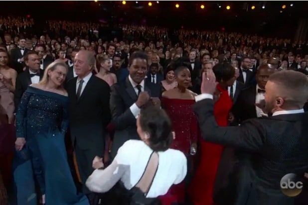 oscars academy awards timberlake can't stop the feeling meryl streep denzel washington