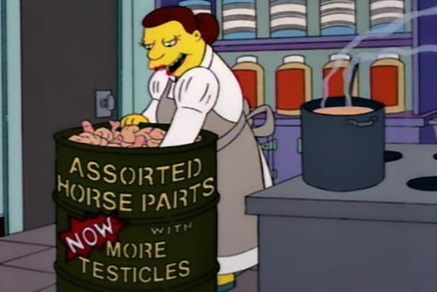 simpsons horse meat