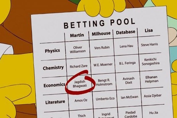 simpsons nobel prize