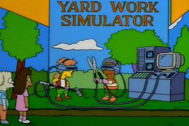 simpsons yard work