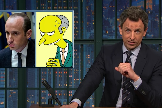 stephen miller montgomery burns seth meyer simpsons