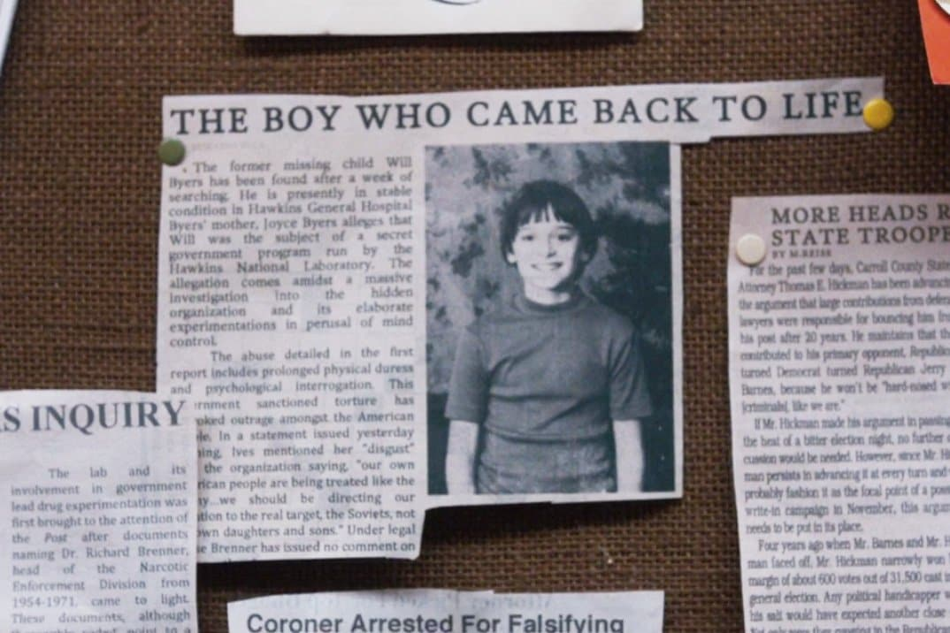 stranger things clipping newspaper hawkins
