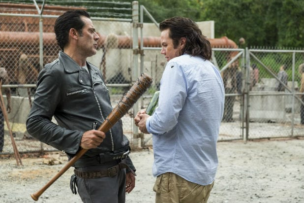 Image result for negan always leaning